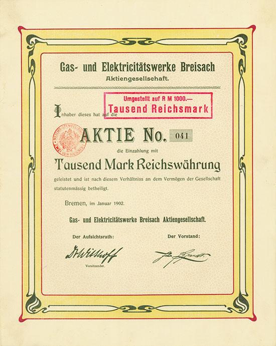 Gas-und Elektricitätswerke Breisach AG