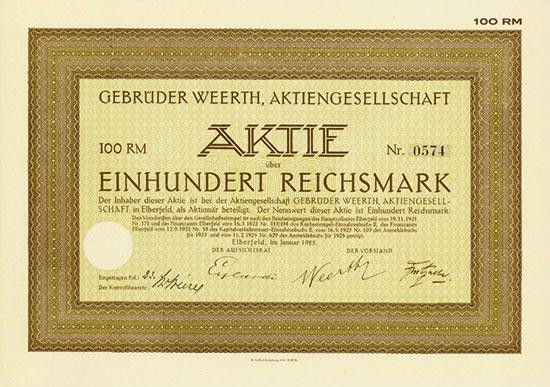 Gebrüder Weerth, AG