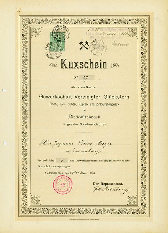 Gewerkschaft Vereinigter Glückstern Eisen-, Blei-, Silber-, Kupfer- und Zink-Erzbergwerk