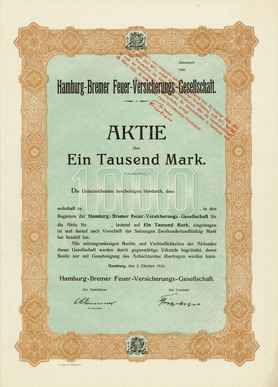 Hamburg-Bremer Feuer-Versicherungs-Gesellschaft