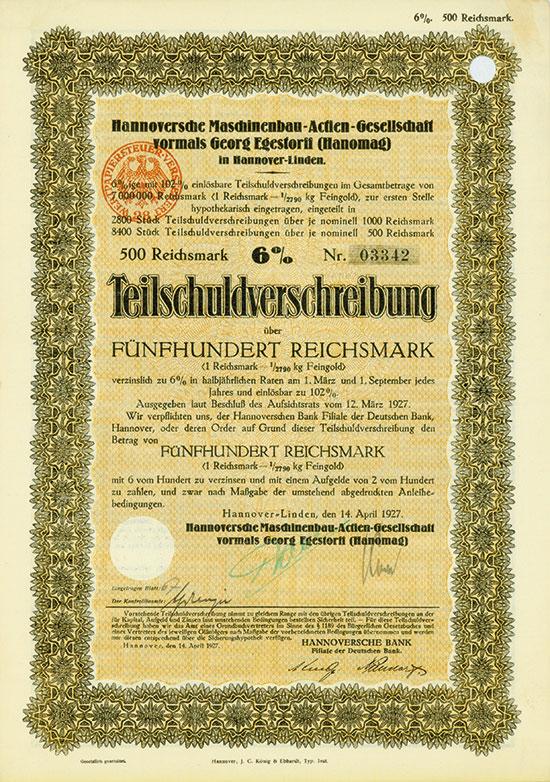 Hannoversche Maschinenbau-AG vormals Georg Egestorff (Hanomag)
