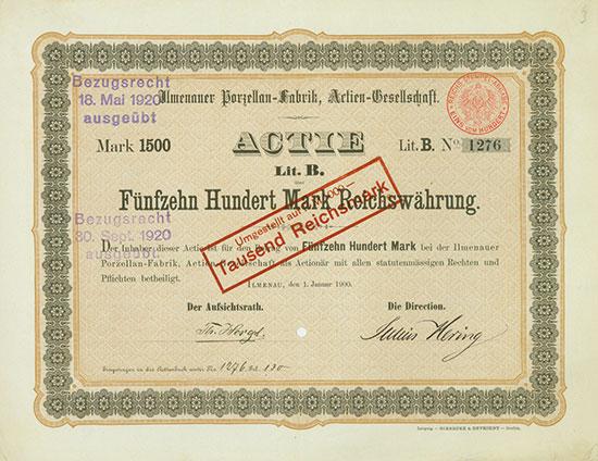 Ilmenauer Porzellan-Fabrik, AG