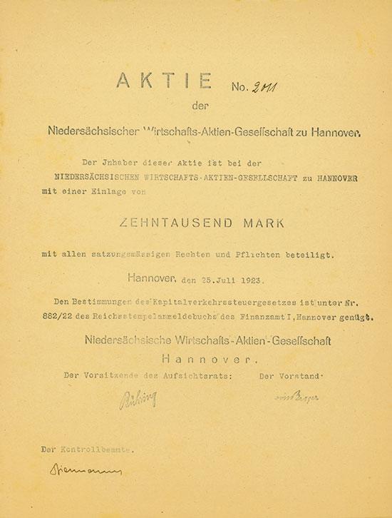 Niedersächsische Wirtschafts-AG