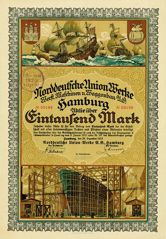 Norddeutsche Union-Werke Werft, Maschinen u. Waggonbau-AG