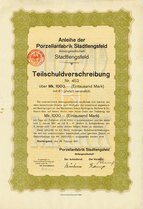 Porzellanfabrik Stadtlengsfeld AG