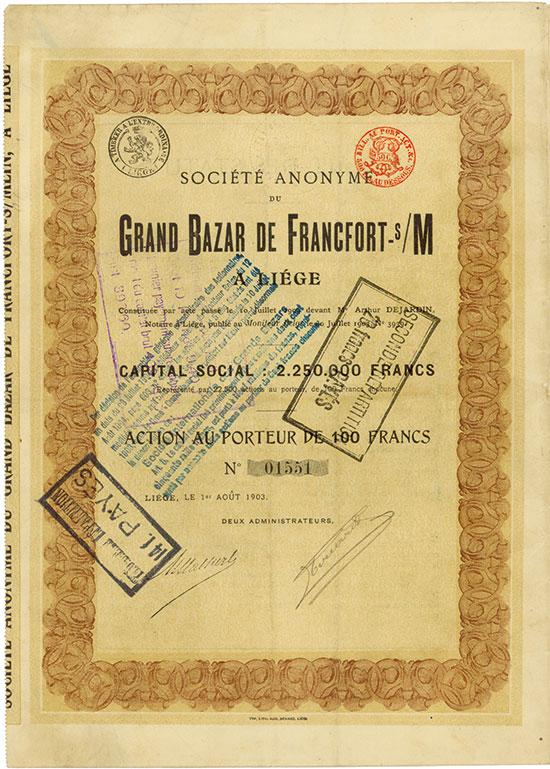 Société Anonyme du Grand Bazar de Francford-s/M