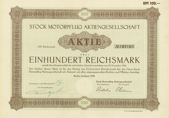 Stock Motorpflug AG