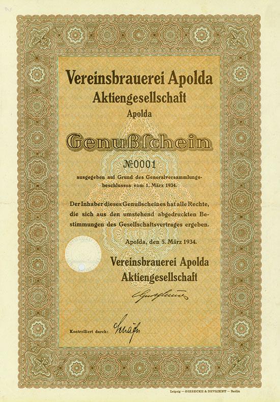 Vereinsbrauerei Apolda AG