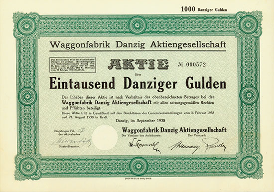 Waggonfabrik Danzig AG