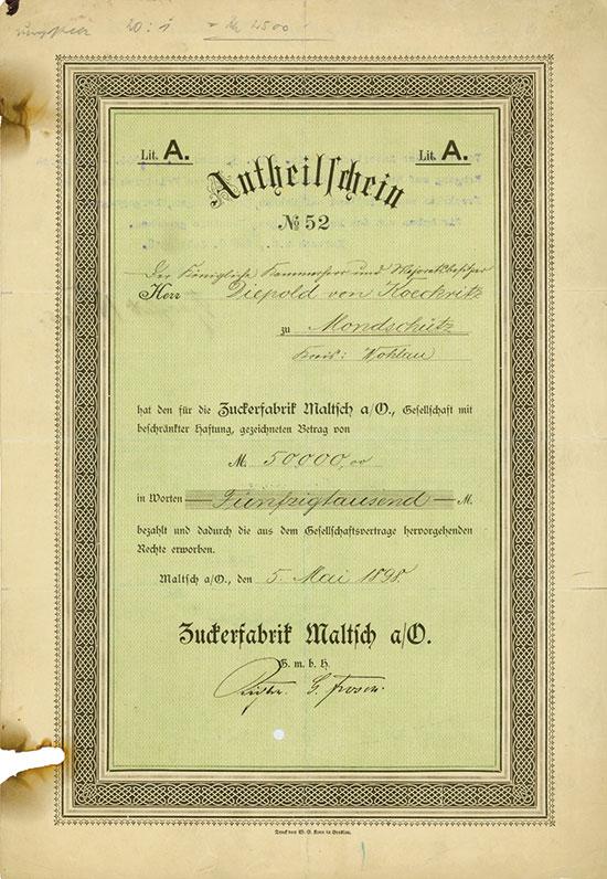 Zuckerfabrik Maltsch a/O. G.m.b.H.