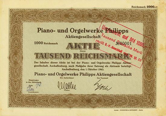 Piano- und Orgelwerke Philipps AG