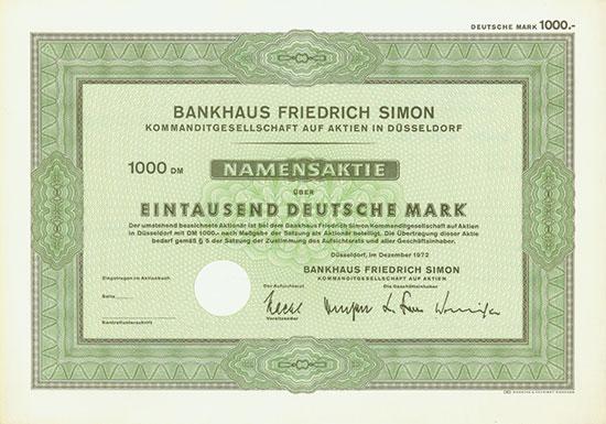 Bankhaus Friedrich Simon KGaA