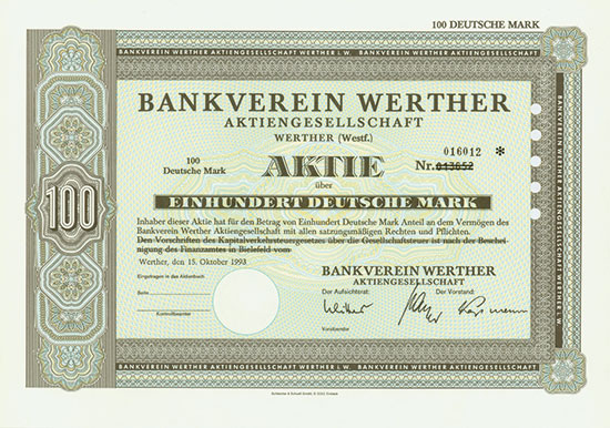Bankverein Werther AG