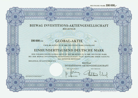 Biewag Investitions-AG