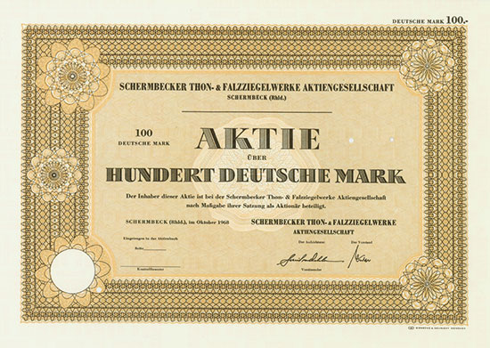 Schermbecker Thon- & Falzziegelwerke AG