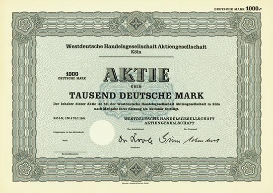 Westdeutsche Handelsgesellschaft AG