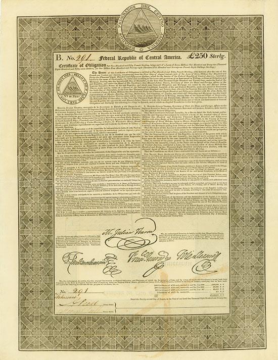 Estados Federados del Centro America / Federal Republic of Central America