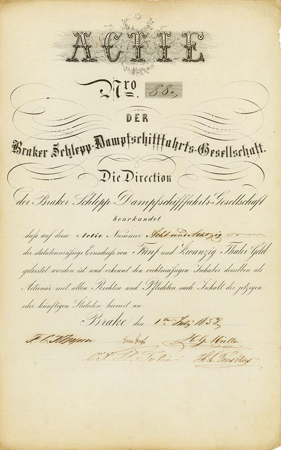 Braker Schlepp-Dampfschifffahrts-Gesellschaft