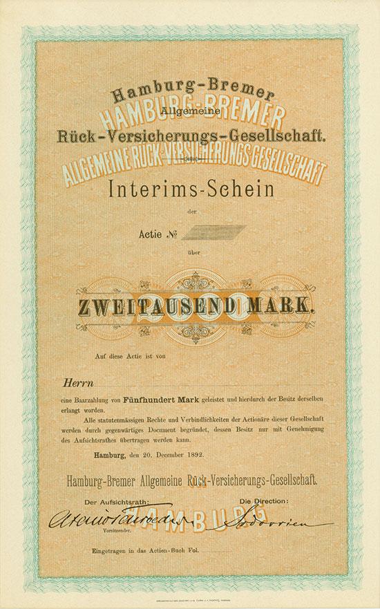 Hamburg-Bremer Allgemeine Rück-Versicherungs-Gesellschaft