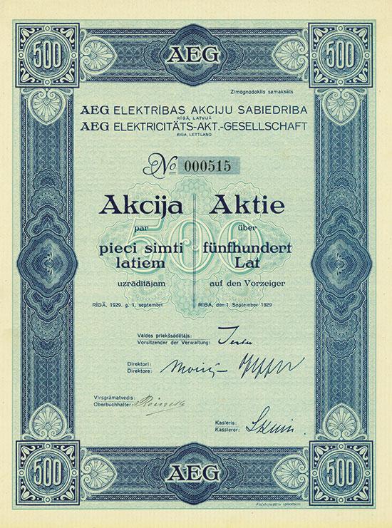 AEG Elektribas Akciju Sabiedriba / AEG Elektrizitäts-AG