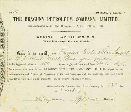 Braguny Petroleum Company, Limited