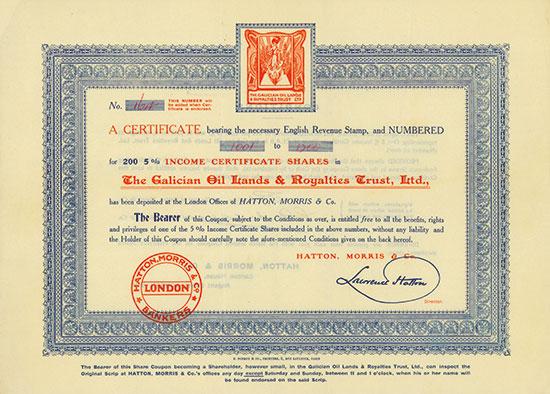Galician Oil Lands & Royalties Trust, Ltd.