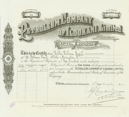 Petroleum Company of Ildokani, Limited