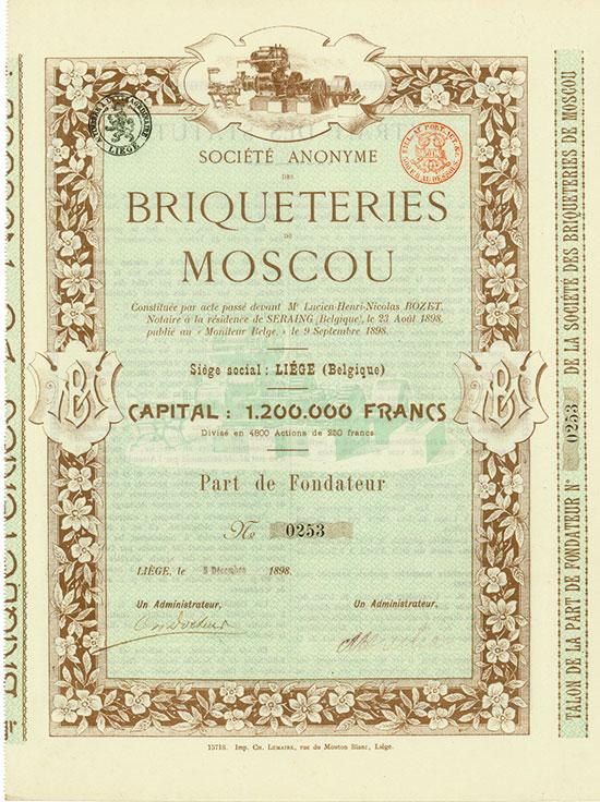 Société Anonyme des Briqueteries de Moscou [2 Stück]