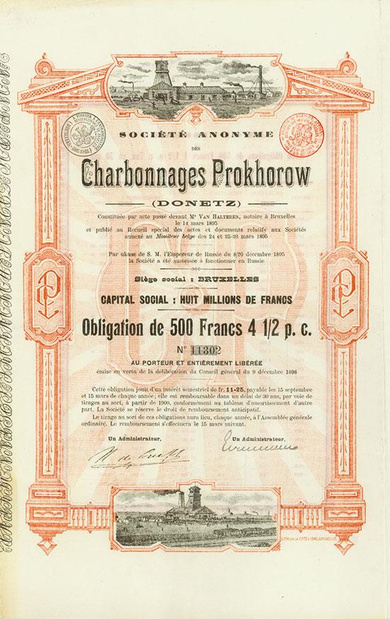 Société Anonyme des Charbonnages de Prokhorow (Donetz)