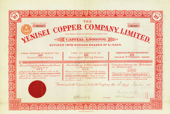 Yenisei Copper Company, Limited
