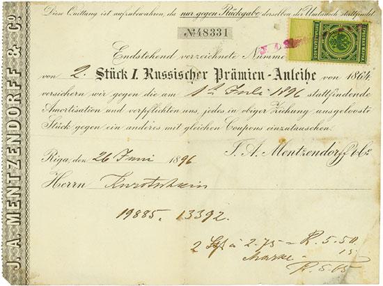 J. A. Mentzendorff & Co. / I. Russische Prämien-Anleihe von 1864