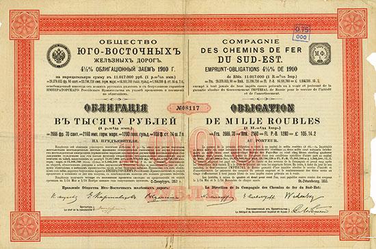 Süd-Ost Eisenbahn-Gesellschaft / Compagnie des Chemins de fer du Sud-Est