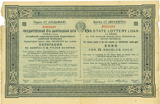 RSFSR State Lottery Loan