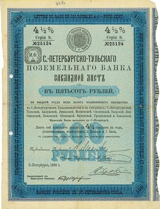 St.-Petersburg-Tula Agrar-Bank / Banque Fonciére de St.-Pétersbourg-Toula