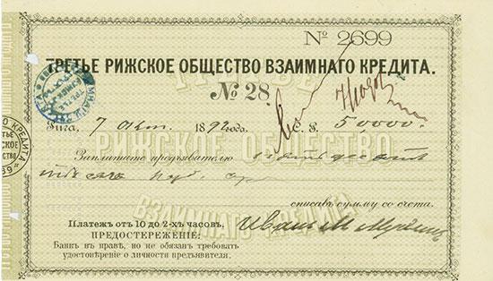 Dritte Rigaer Gesellschaft für gegenseitigen Kredit