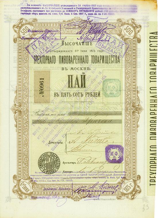 Trechgorny Bierbrauerei-Gesellschaft in Moskau