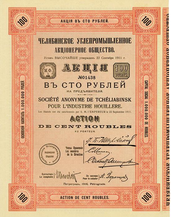 Société Anoynme de Tchéliabinsk pour l'Industrie Houillere