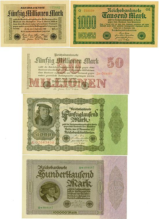 Germany: Reichsbanknoten [181 + 1 Stück]