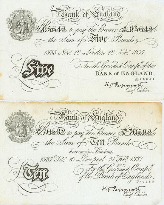 Great Britian - Bank of England - Operation Bernhard [4 Stück]