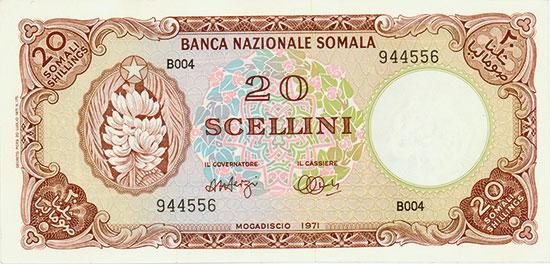 Somalia - Banca Nozionale Somala - Pick 15a - Linzmayer B108c