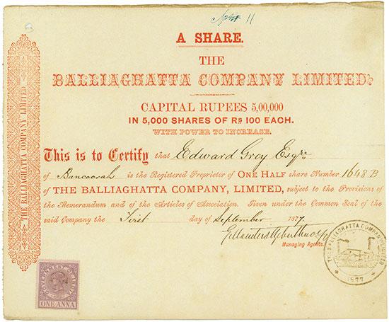 Balliaghatta Company, Limited