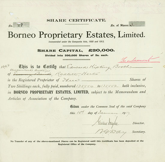 Borneo Proprietary Estates, Limited