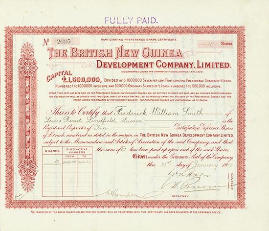 British New Guinea Development Company, Limited
