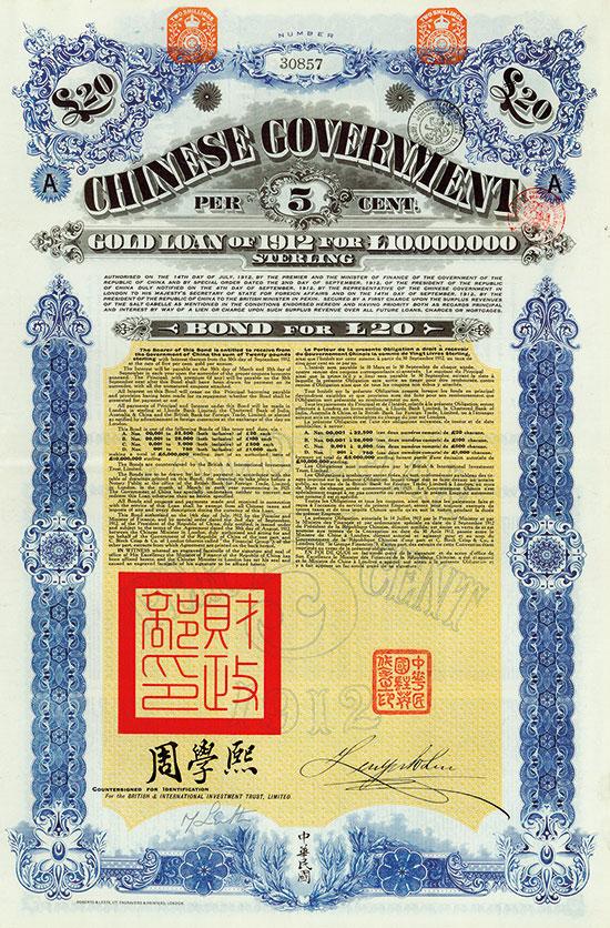 Chinese Government (Crisp, Kuhlmann 270 + 271) [2 Stück]