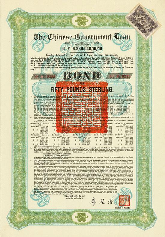 Chinese Government (Skoda Loan II, Kuhlmann 702 D)