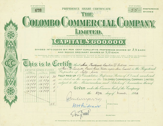 Colombo Commercial Company, Limited