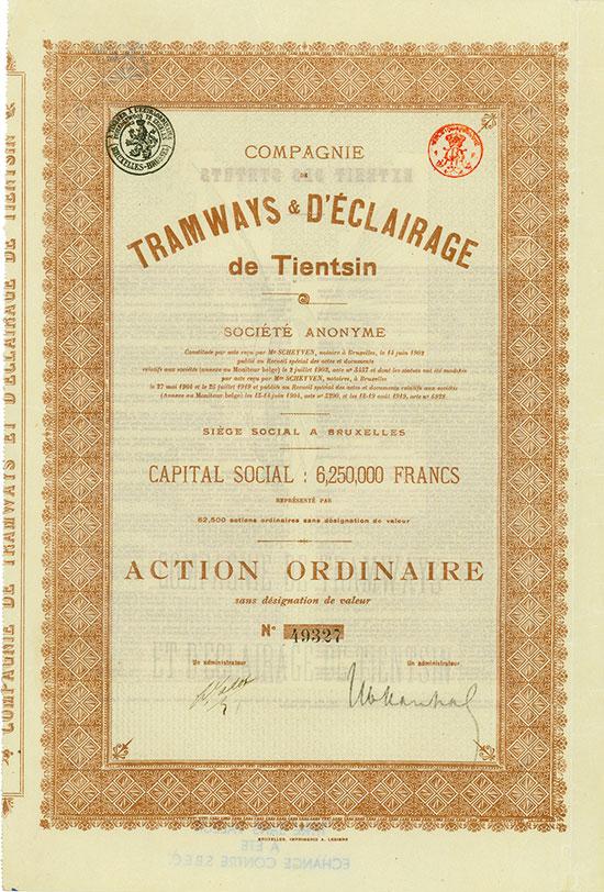 Compagnie de Tramways & d'Eclairage de Tientsin