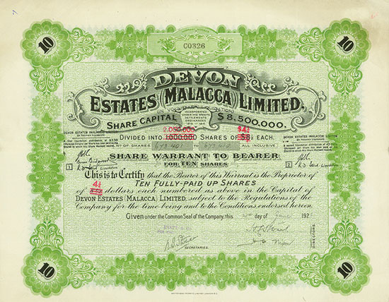 Devon Estates (Malacca) Limited