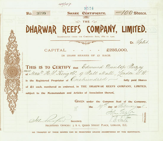 Dharwar Reefs Company, Limited