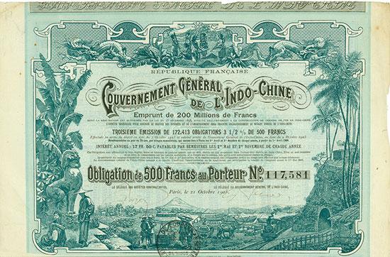 Gouvernement Général de l'Indo-Chine - Republique Française